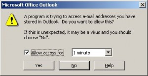Outlook Warning