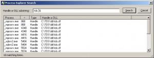 Process Explorer Search